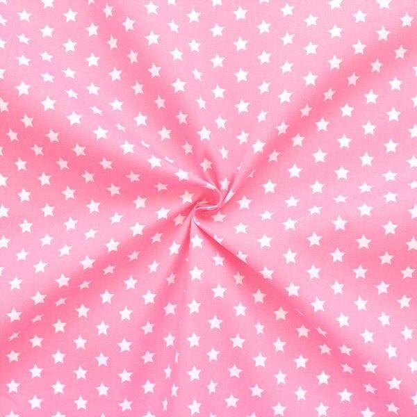 "100% Baumwollstoff ""Sterne Mittel"" Farbe Rosa"