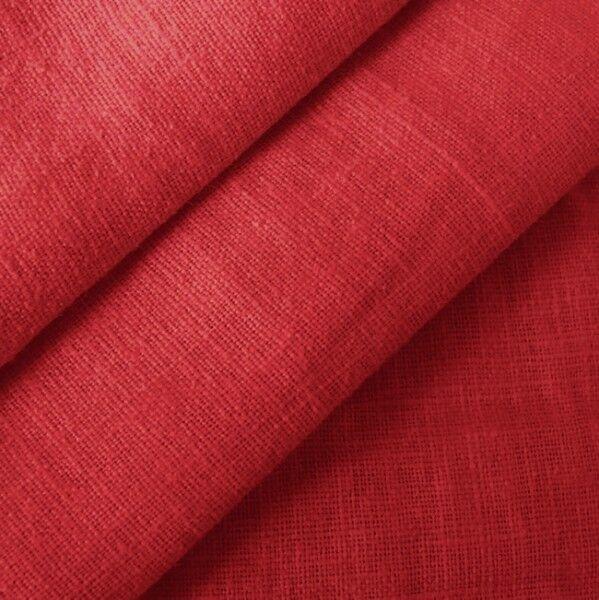100% Leinen Stoff Artikel Barcelona, Farbe Karmin-Rot