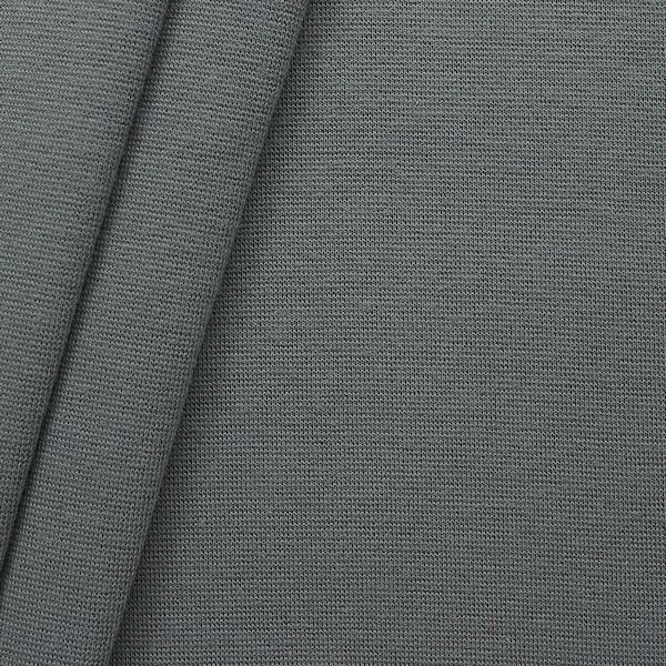 "Baumwoll Bündchenstoff ""glatt"" Farbe Mittel-Grau"
