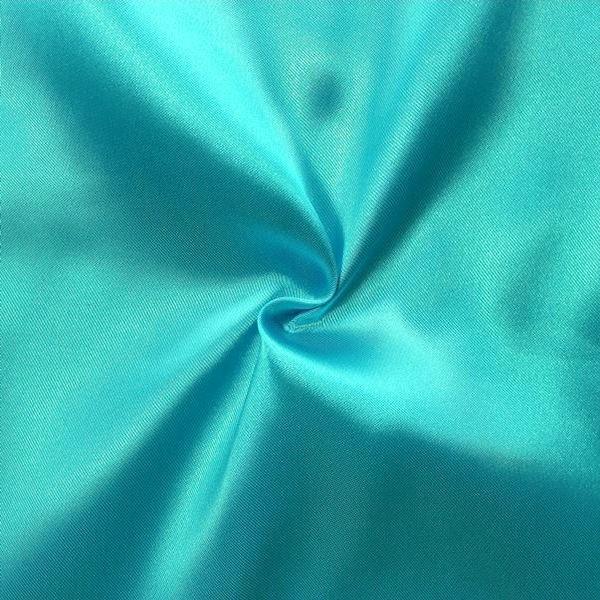 Satin Stoff Azur-Blau