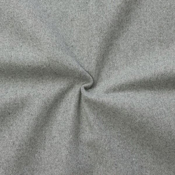 Wollstoff Winter Basic Hell-Grau