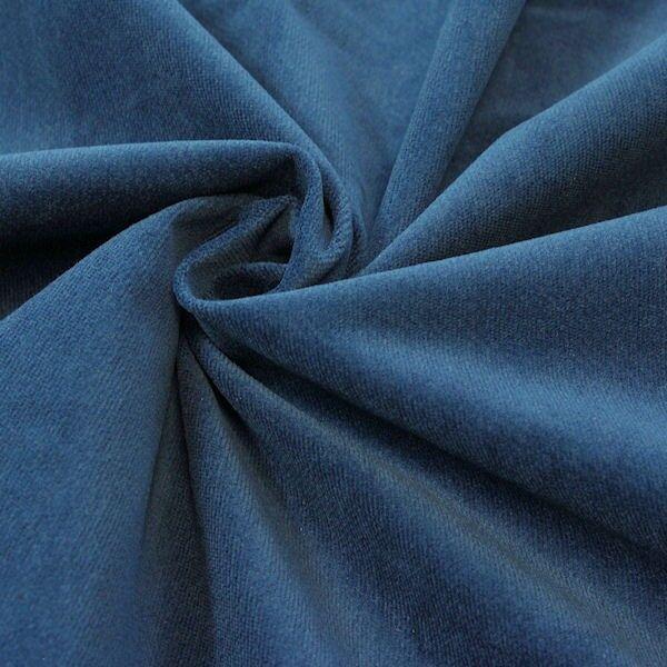 Stretch Baumwolle Samt Velours  Farbe Indigo-Blau