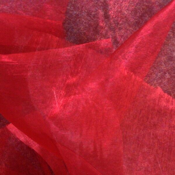 Organza einfarbig Farbe Rot