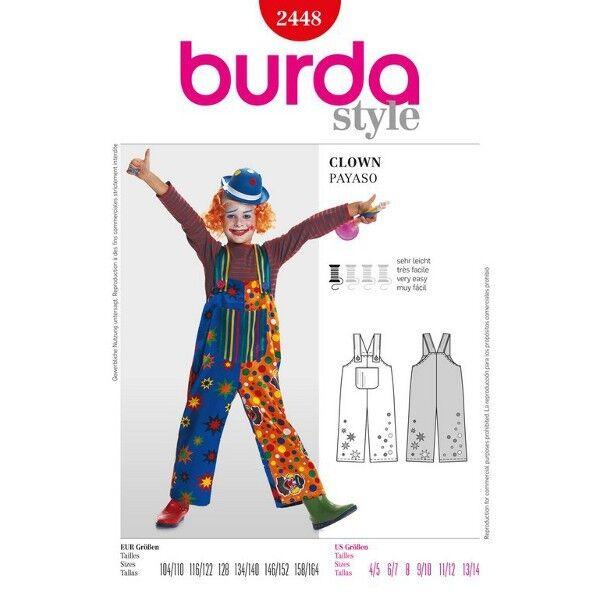 Clown, Gr. 104 - 164, Schnittmuster Burda 2448