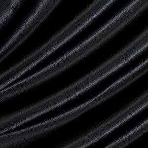 Satin Stoff B1 schwer entflammbar Farbe Schwarz