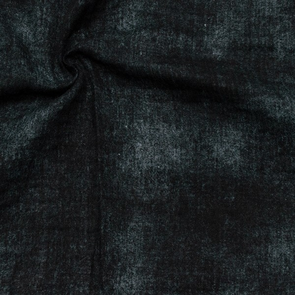 100% Baumwolle Musselin Double Gauze Jeans Optik Schwarz