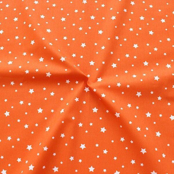 Baumwollstoff Sterne Mix Orange