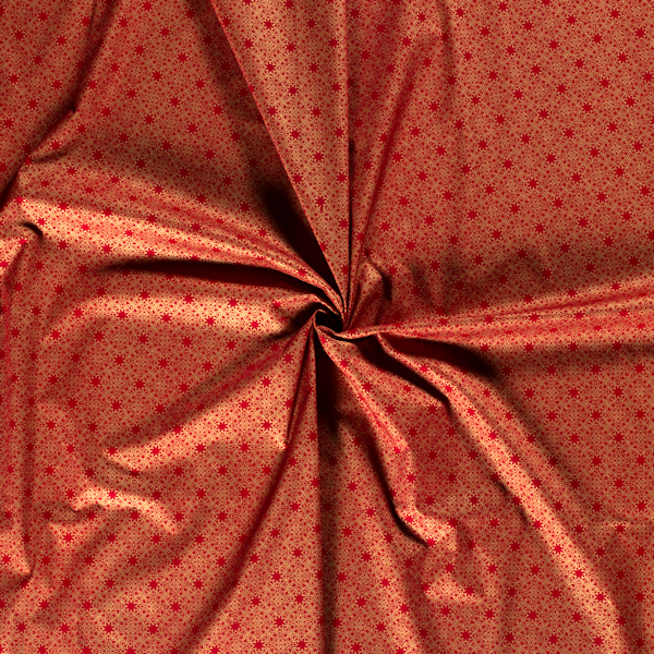 Klassischer Weihnachtsstoff in Rot und Gold