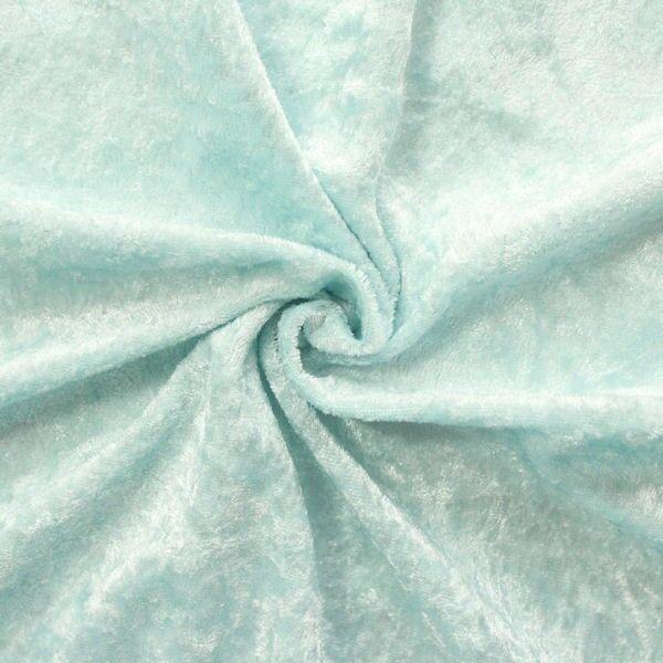 Pannesamt Farbe Eis-Blau