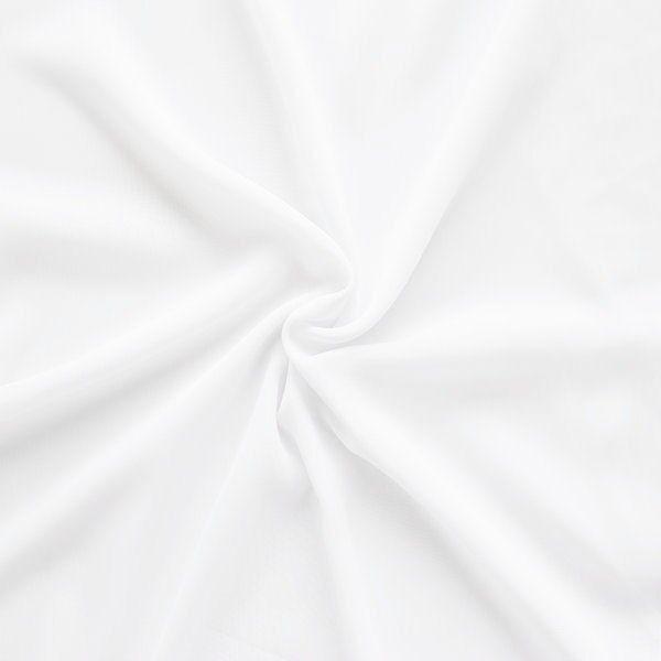 """Modestoff universal Artikel """"Peach"""" Farbe Weiss"""