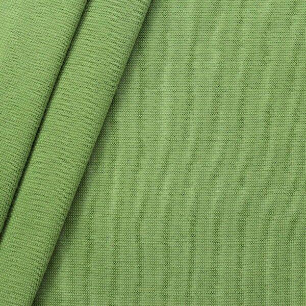 Baumwoll Bündchenstoff Lind-Grün