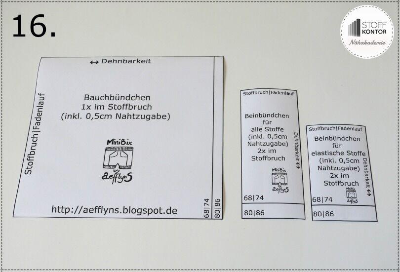 MiniBix Schnittmuster auf MaxBix übertragen