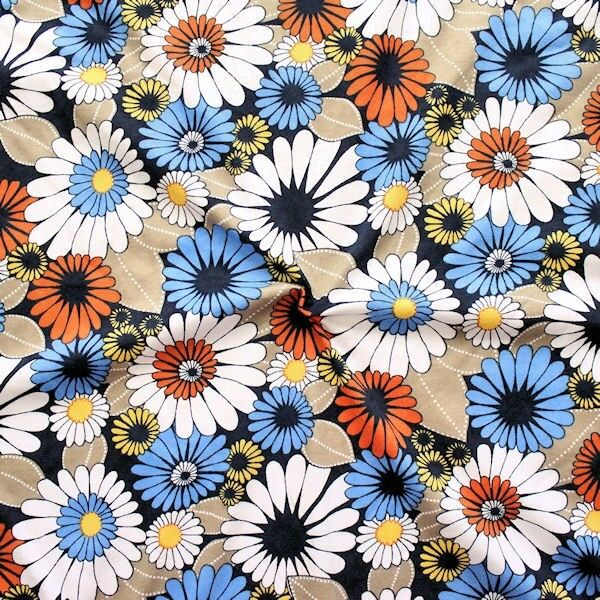 """100% Baumwolle Jersey """"'Blüten Mix"""" Multicolor"""