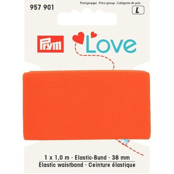 Prym Love 1m Elastic-Bund 38mm breit orange