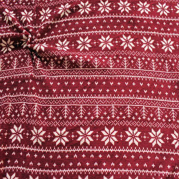 Fleecestoff mit Norwegermuster für gemütliche Weihnachtspullis
