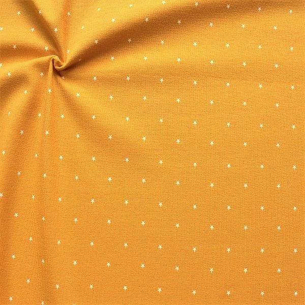 Baumwoll Stretch Jersey Little Stars Gelb