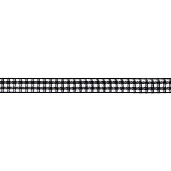 Prym Dekoband kariert 10mm x 4m (Breite / Länge) schwarz / weiss