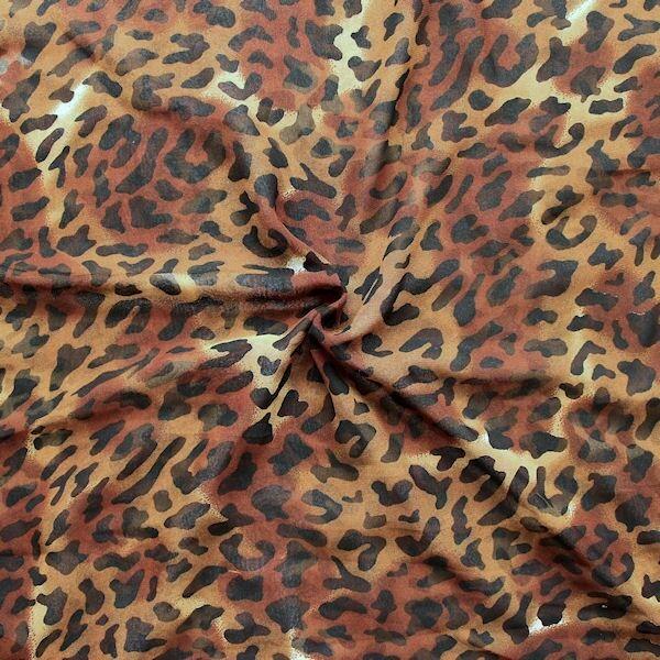 Crepe Georgette Animal Print Braun-Schwarz