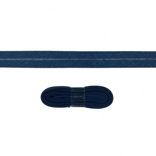 3m Baumwoll Schrägband 20mm  Dunkel-Blau