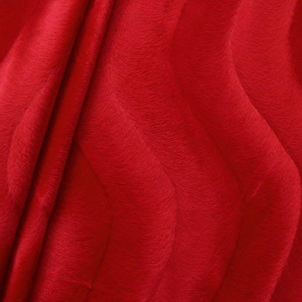 Teddy Fellimitat Velboa Farbe Rot
