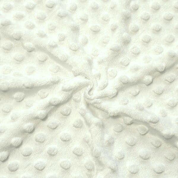 "Micro Fleece Stoff ""Noppen"" Farbe Creme-Weiss"