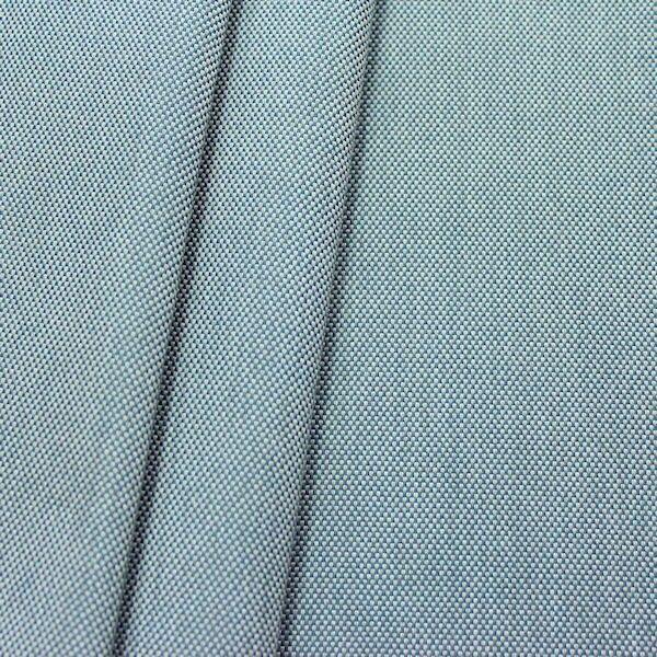 Indoor- Outdoorstoff Panama Bindung Blau-Grau meliert