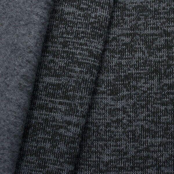 """Strick Jersey """"Melange"""" Farbe Anthrazit-Schwarz"""