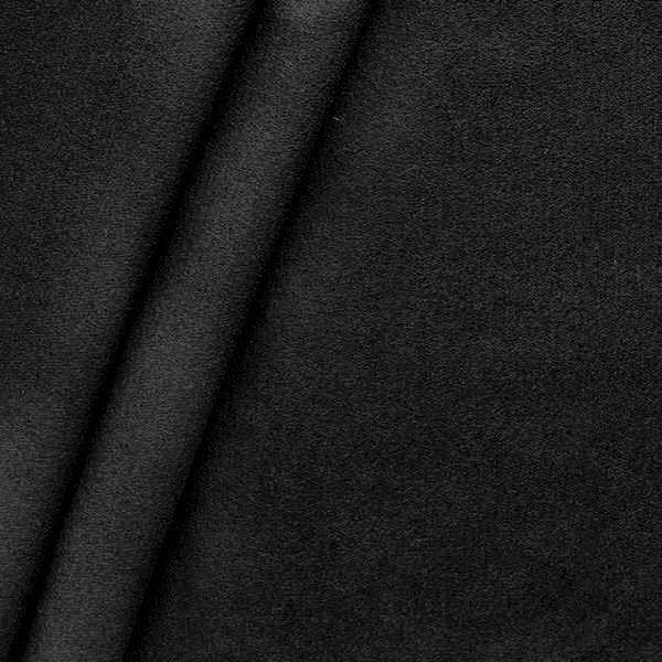 Polster-/ Möbelstoff Artikel Durban Schurwoll-Optik Schwarz