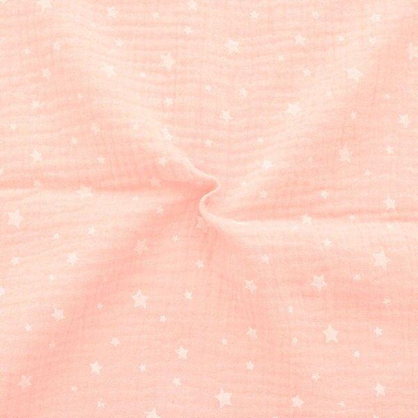 Baumwolle Musselin Double Gauze Sternchen Mix Rosa