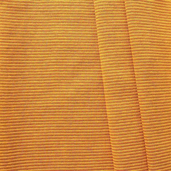 Baumwoll Bündchenstoff Ringel Mini glatt Ocker-Braun