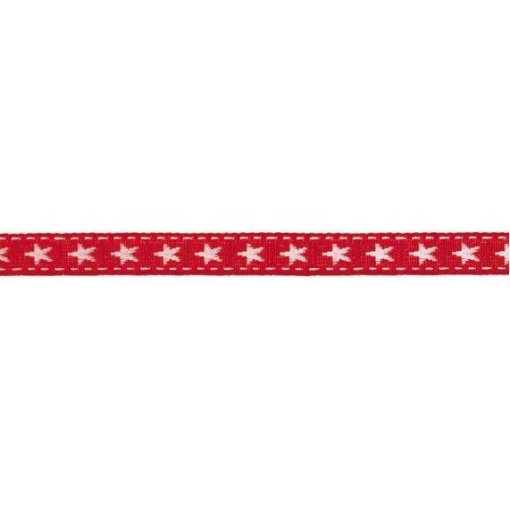 Prym Borte mit Stern 10mm x 2m (Breite / Länge) rot / weiss