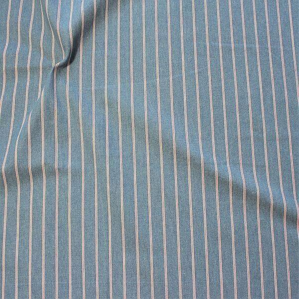 Baumwolle Denim Jeans Stoff Maritime Streifen Hell-Blau