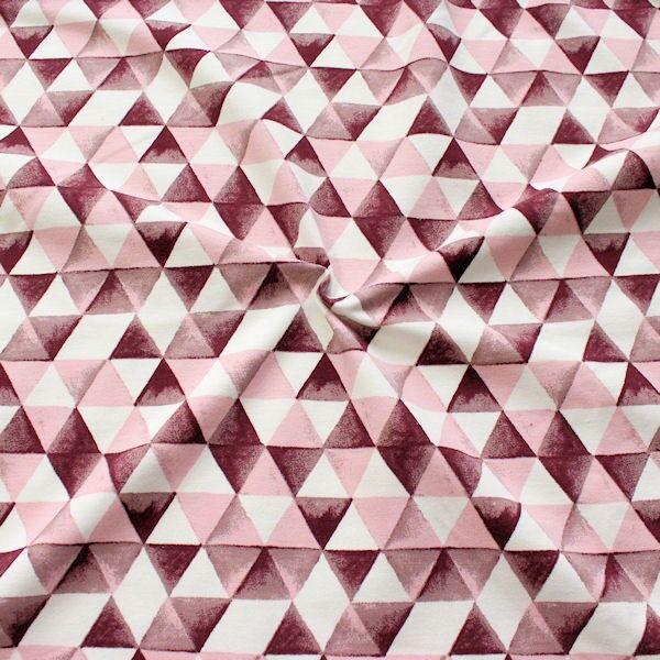 Organic Sweatshirt Baumwollstoff Dreiecke Rosa