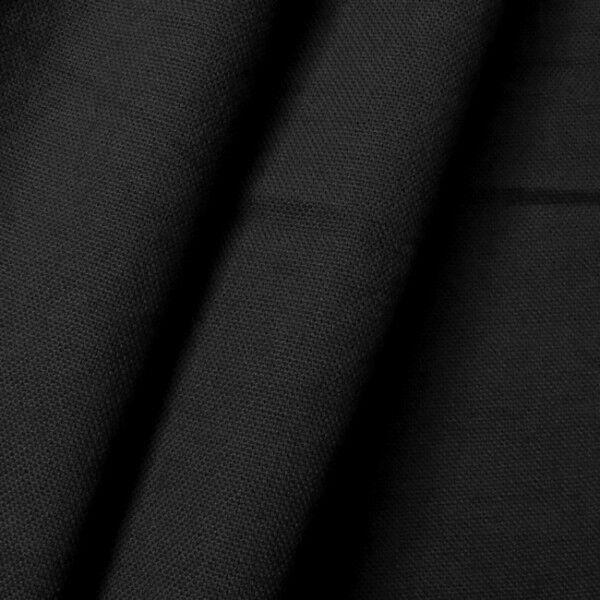 100% Baumwolle Canvas Farbe Schwarz