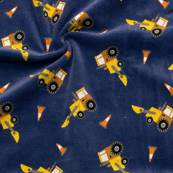 Nicki Baumwollstoff Radlader Farbe Blau