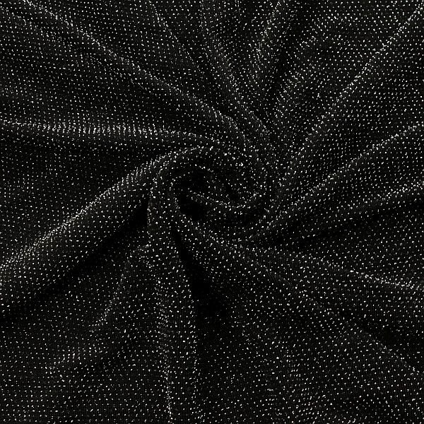 Slinky Jersey Glitzer Silber