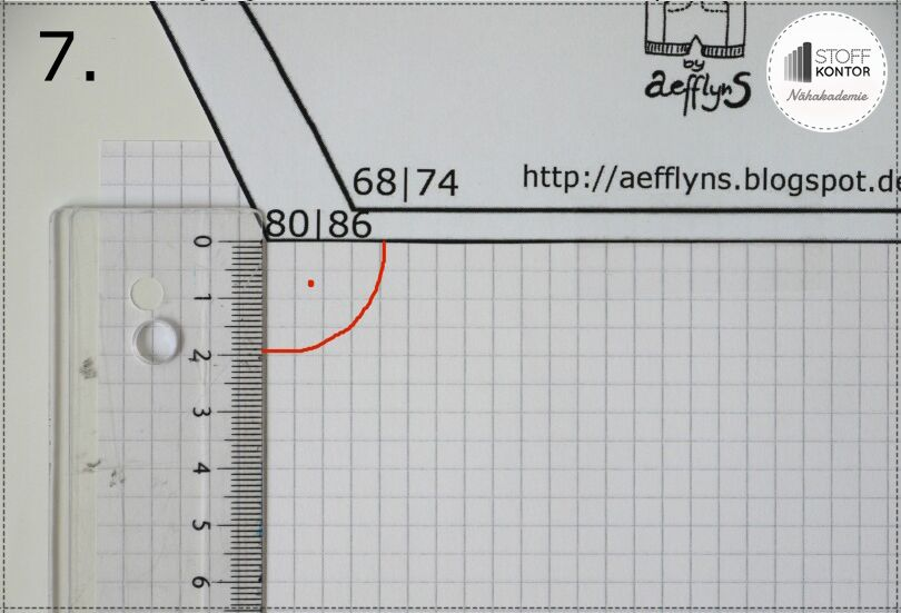 Schnittmuster MiniBix auf Papier übertragen