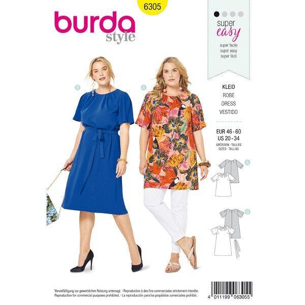 Shirt und Kleid, Gr. 46 - 56, Schnittmuster Burda 6305