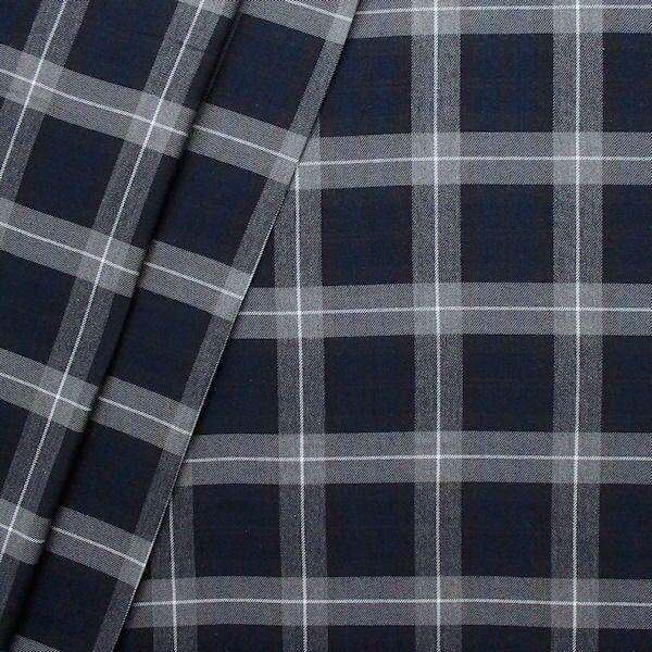 Modestoff Dekostoff Schottenkaro Blau-Grau