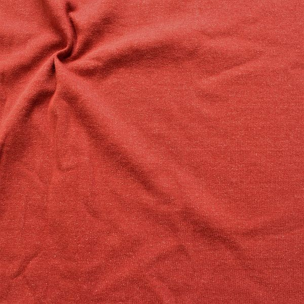Sweatshirt Baumwollstoff Winter Melange Rost-Rot