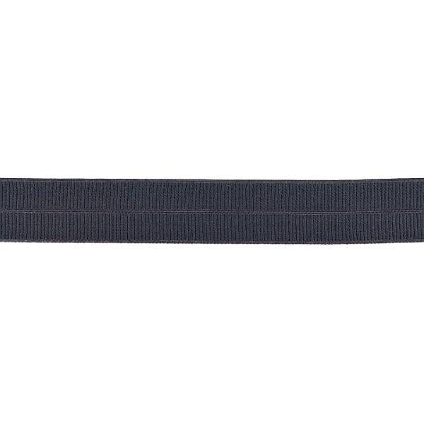 Elastisches Einfassband gerippt Dunkel-Grau