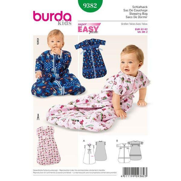 Burda 9382 Schnittmuster für Babyschlafsack in zwei Varianten