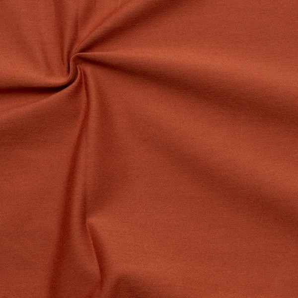 Organic Baumwoll Stretch Jersey Farbe Terrakotta