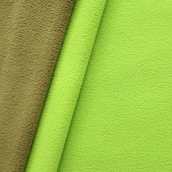 Doubleface Fleece Lind-Grün Oiv