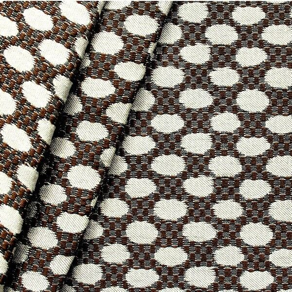 """Polster-/ Outdoorstoff """"Exclusive Dots"""" Farbe Braun-Silber"""