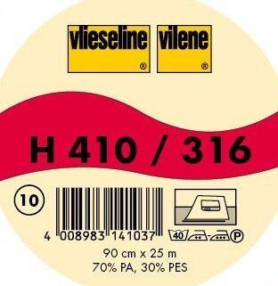 Vlieseline Softline Bügeleinlage fixierend faserverstärkt Typ H 410 Farbe Weiss