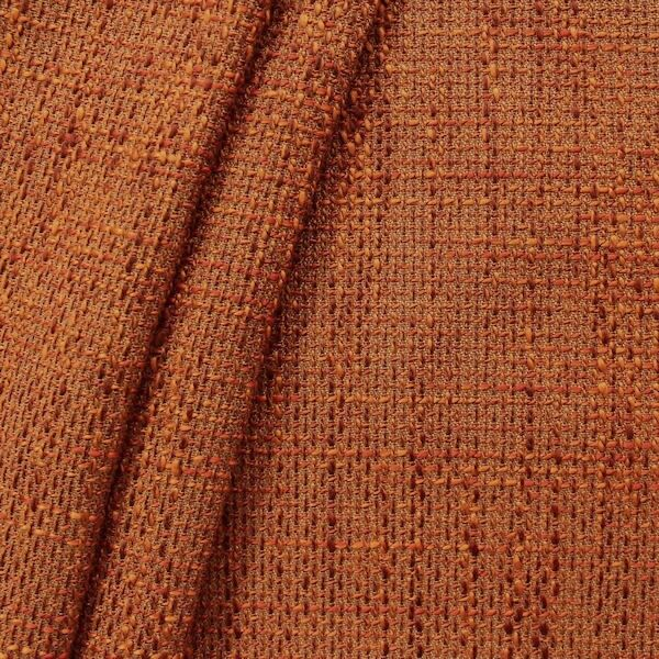 Polster- Möbelstoff Bouclé Optik Artikel Lawa Farbe Terrakotta-Orange