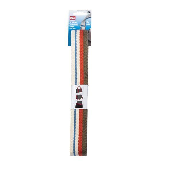 Prym 3m Gurtband für Taschen, 40mm, Natur mehrfarbig