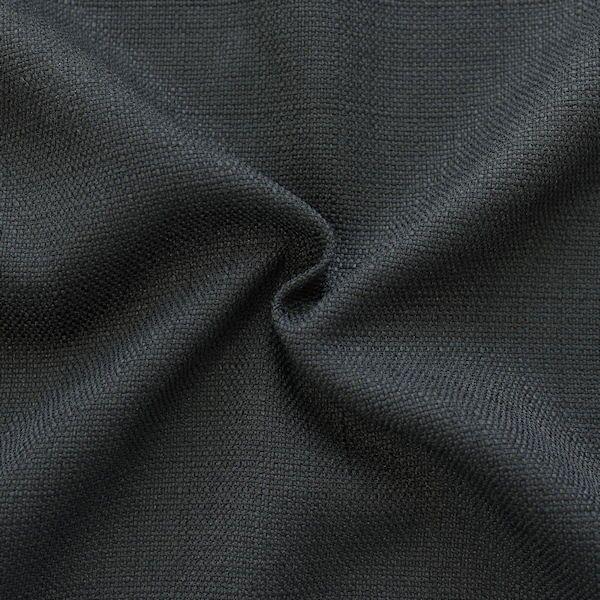 Modestoff Dekostoff universal Leinen Optik Schwarz