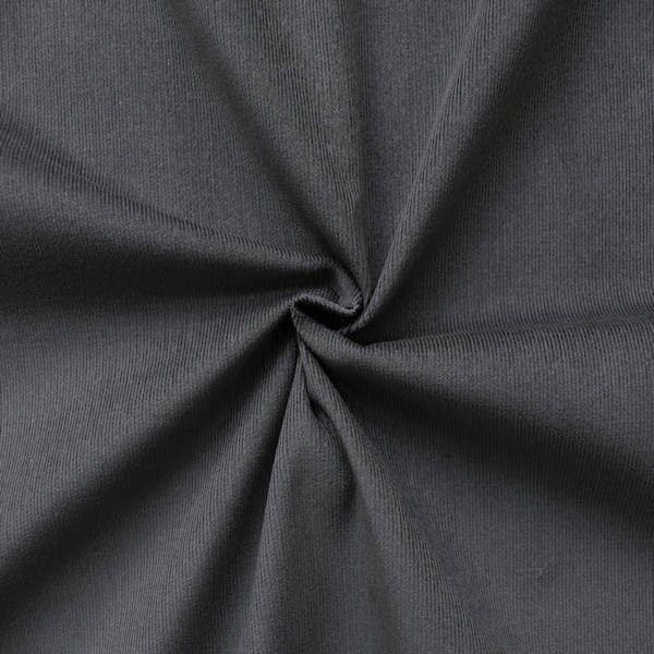 "100% Baumwolle Feincord Babycord ""Fashion Classic"" Farbe Grau"